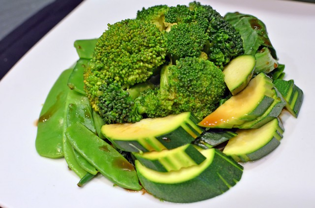 Steamed Greens with oyster sauce