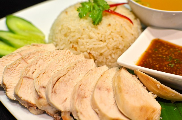 Hainan Chicken with garlic and ginger rice