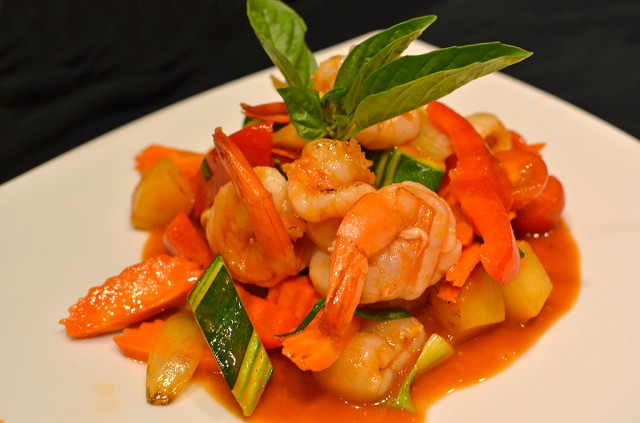 Sweet and sour prawn